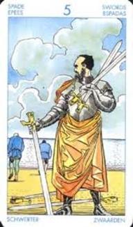 Характеристики пятерки мечей